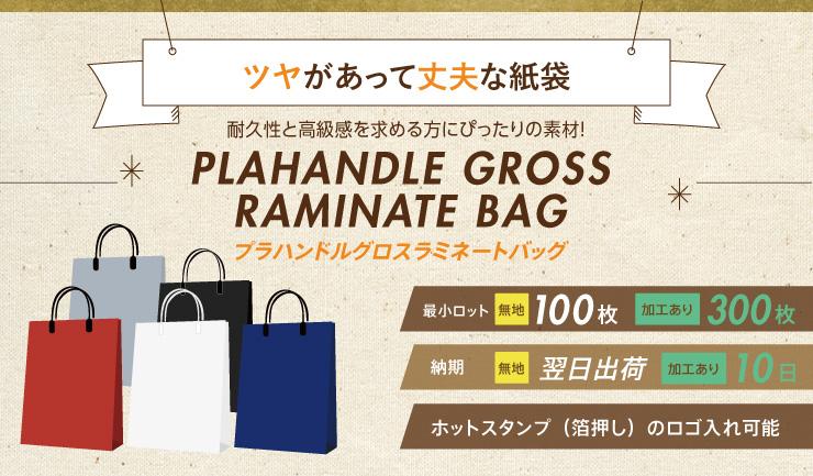 ツヤがあって丈夫な紙袋 プラハンドルグロスラミネートバッグ
